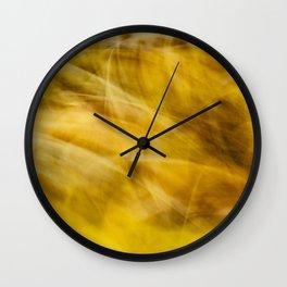 Yellow Swirl Autumn Abstract Wall Clock