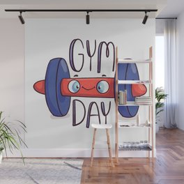 Gym Day Wall Mural
