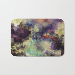 Contemporary Abstract Painting in Purple / Violet Color Bath Mat