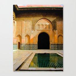 Ben Youssef Madrasa, Marrakech Canvas Print