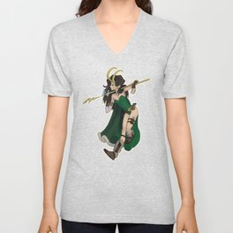 Lady Loki Unisex V-Neck