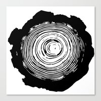 tree rings Canvas Prints featuring Tree Rings by vogel