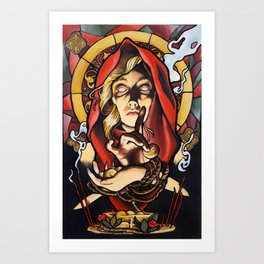 Lady Devout Art Print