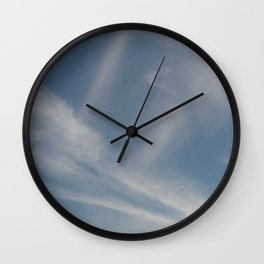 Spring Evening Sky // Cloud Photography Wall Clock
