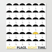himym Canvas Prints featuring HIMYM: Right Place, Right Time by mhdesigns