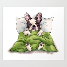 Bubba Sleeping Art Print