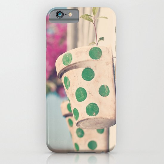Nature and polka dots iPhone & iPod Case