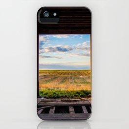 Prairie Through a Grain Elevator iPhone Case