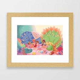 Dino Slumber Party Framed Art Print