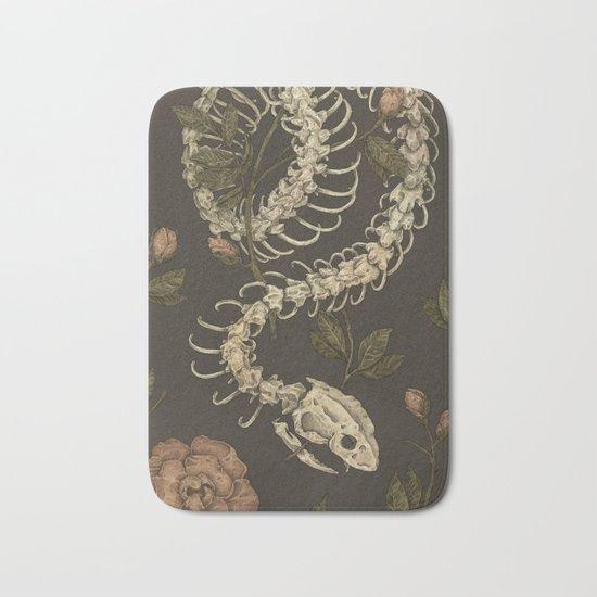 Snake Skeleton Bath Mat