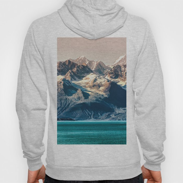 Scenic sunset Alaskan nature glacier landscape wilderness Hoody