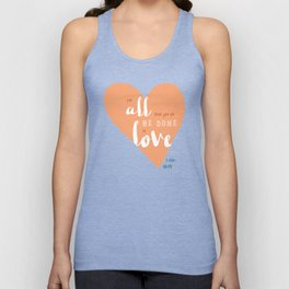 """All in Love"" Hand-Lettered Bible Verse Unisex Tank Top"