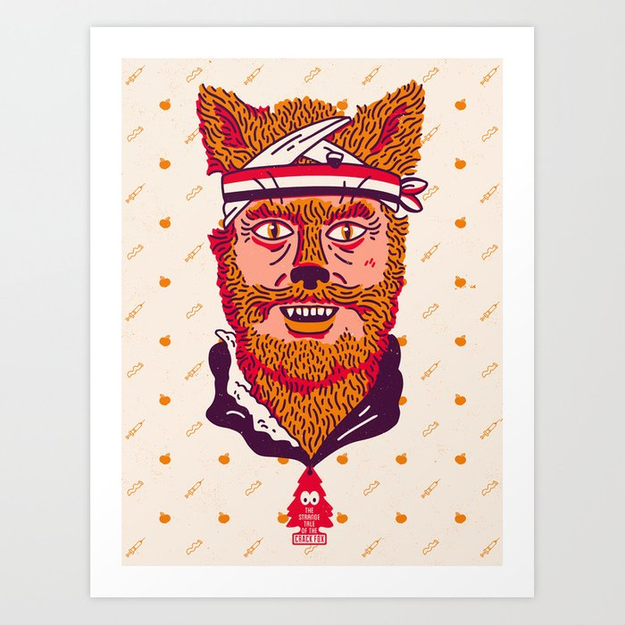 Crack Fox Art Print