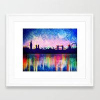 london Framed Art Prints featuring London  by mark ashkenazi