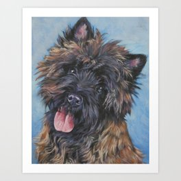 Beautiful Cairn Terrier from an original painting by L.A.Shepard Art Print