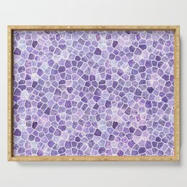 Pale Lilac Cobbled Patchwork Serving Tray