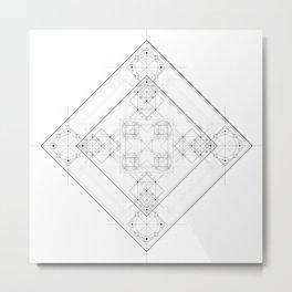 Science scheme geometric lines with alchemy symbols Metal Print