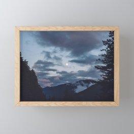 quietly, moon Framed Mini Art Print