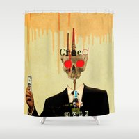 motivation Shower Curtains featuring Mankind Motivation 1 by Marko Köppe
