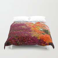 fall Duvet Covers featuring fall  by Ariadne