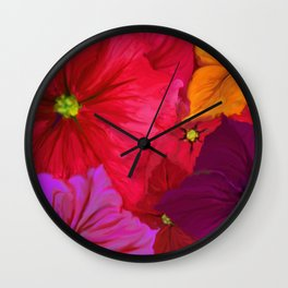 Surfinie and anemones Wall Clock