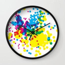 Splatter 1 Wall Clock