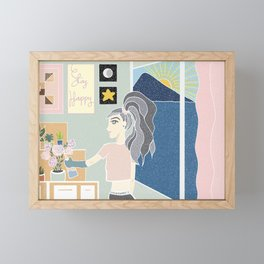 Stay Happy Framed Mini Art Print