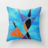 ninja Throw Pillows featuring Ninja by takingachancexo