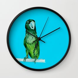 neon bird Wall Clock