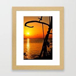 Sunrise The Maldives Framed Art Print