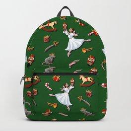 Nutcracker pattern green Backpack