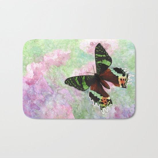 Urania Ripheus Butterfly Bath Mat