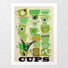 cups-green Art Print