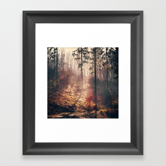 Little Red Tree Framed Art Print