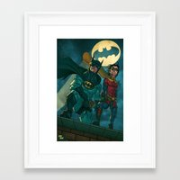 justice league Framed Art Prints featuring bat man the watch men justice league man of steel by Brian Hollins art