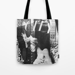 NYC Editorial Collage Black & White Tote Bag