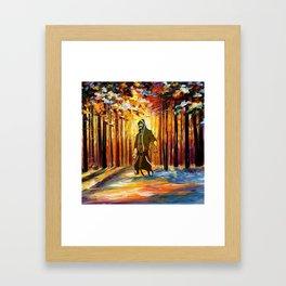 handsome art Framed Art Print