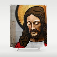 christ Shower Curtains featuring Jesus Christ by Ed Pires