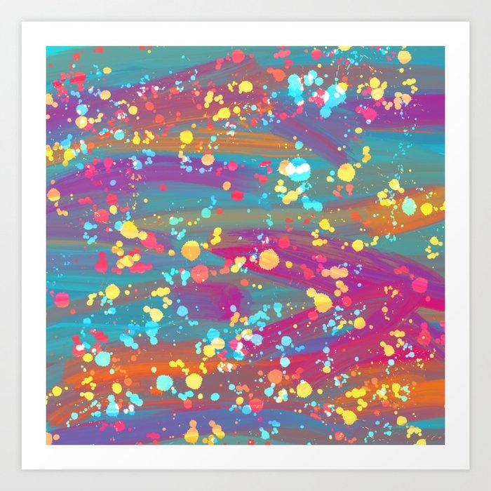 Splatter paint 2 Art Print