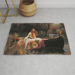 The Lady of Shallot - John William Waterhouse Rug