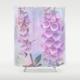 Pastel painterly foxgloves Shower Curtain