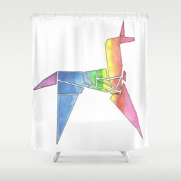 Origami Unicorn - Blade Runner Shower Curtain