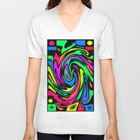 psychedelic V-neck T-shirts featuring Psychedelic by Michael P. Moriarty