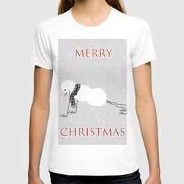 Snowman yoga - Planck T-shirt