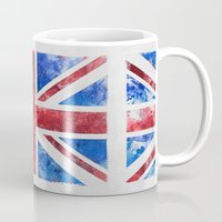 union jack Mugs featuring Union Jack by LebensART