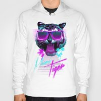 miami Hoodies featuring Miami Tiger by Robert Farkas