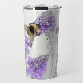 Watercolor Bumble Bee Travel Mug