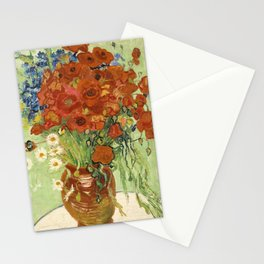 """Vincent van Gogh """"Still Life, Vase with Daisies, and Poppies"""" Stationery Cards"""
