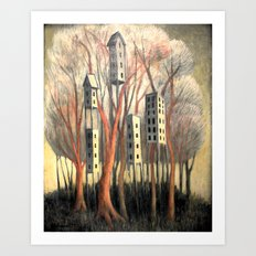 Hi-Rise Wilderness IV Art Print