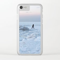 Out on the Ice Clear iPhone Case